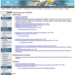 Portal de la Secretaría General (UPV/EHU) - Normativa UPV/EHU