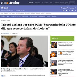 """Trisotti declara por caso SQM: """"Secretaria de la UDI me dijo que se necesitaban dos boletas"""""""