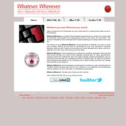 Virtual assistant|Secretarial Services|Events|WhateverWhenever Chelmsford,Essex