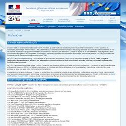Secrétariat général des affaires européennes - Historique