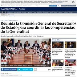 Reunida la Comisión General de Secretarios de Estado para coordinar las competencias de la Generalitat