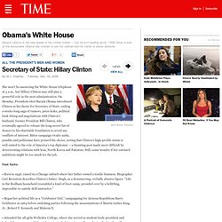Secretary of State: Hillary Clinton - Obama's White House