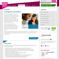 Company secretary Job Information
