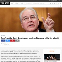 Price: People using the ACA will be fine without it