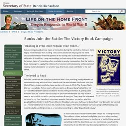 Oregon Secretary of State: Books Join the Battle: The Victory Book Campaign