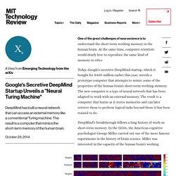 "Google's Secretive DeepMind Start-up Unveils A ""Neural Turing Machine"""