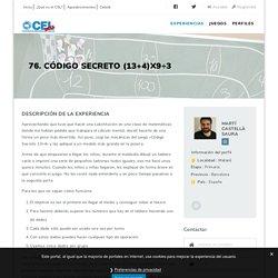 76. Código Secreto (13+4)x9÷3 – Catàleg d'Experiències Lúdiques
