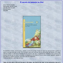 El secreto de Leonardo Da Vinci- Literatura