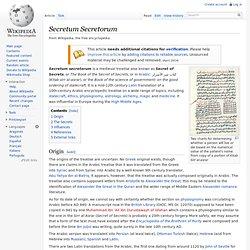 Secretum Secretorum