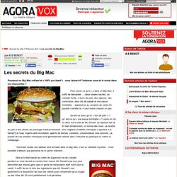 Les secrets du Big Mac