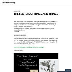 THE SECRETS OF RINGS AND THINGS