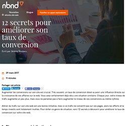 12 secrets pour améliorer son taux de conversion