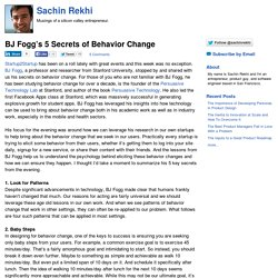 BJ Fogg's 5 Secrets of Behavior Change