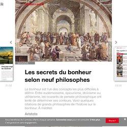 Les secrets du bonheur selon neuf philosophes - Edition du soir Ouest France - 22/06/2016
