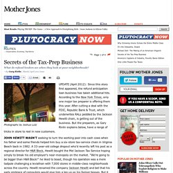Secrets of the Tax-Prep Business