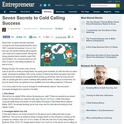 Seven Secrets to Cold Calling Success