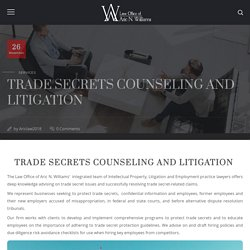 Trade Secrets Counseling and Litigation