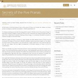 Secrets of the Five Pranas