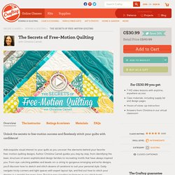 The Secrets of Free-Motion Quilting