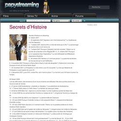 Secrets d'Histoire en streaming.