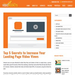 Top 5 Secrets to Increase Your Landing Page Video Views - Video Rockets