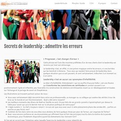 Secrets de leadership : admettre les erreurs