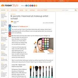 6 secrets I learned at makeup artist school