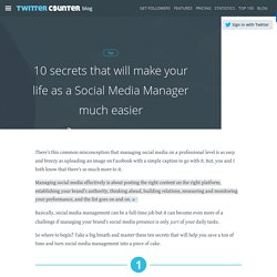 10 secrets to make a social media manager's life easier