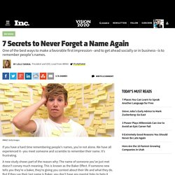 9 Secrets to Never Forget a Name Again