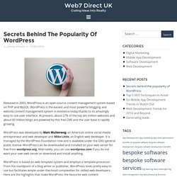 Secrets behind the popularity of WordPress