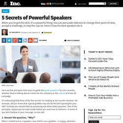 5 Secrets of Powerful Speakers