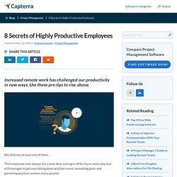 8 Secrets of Highly Productive Remote Workers
