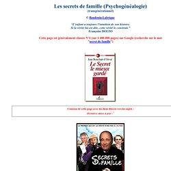 Les Secrets de famille en Psychogénéalogie