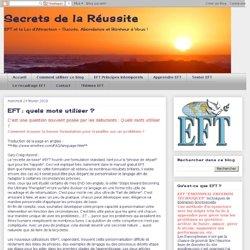 EFT : quels mots utiliser ?