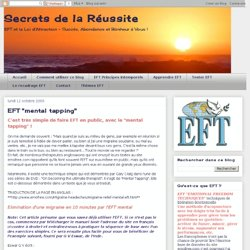 """EFT """"mental tapping"""""""
