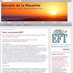 Tenir un journal d'EFT