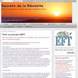 Tenir un journal d'EFT
