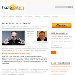 Derren Brown Secrets Revealed
