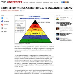 Core Secrets: NSA Saboteurs in China and Germany