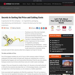 Secrets to Sorting Out Price and Cutting Costs