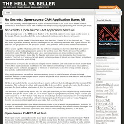 No Secrets: Open-source CAM Application Bares All « The Hell Ya Beller