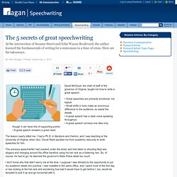 The 5 secrets of great speechwriting