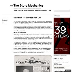 Secrets of The 39 Steps: Part One « The Story Mechanics