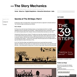 Secrets of The 39 Steps: Part 2 « The Story Mechanics