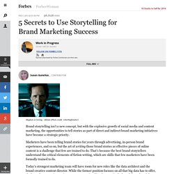 5 Secrets to Use Storytelling for Brand Marketing Success