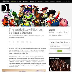 The Inside Story: 5 Secrets To Pixar's Success