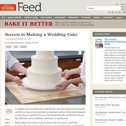 Secrets to Making a Wedding Cake