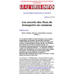 Les secrets des pass de transports en commun (par Pirates Magazine)
