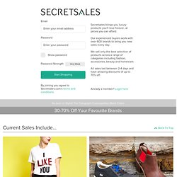 Secret Sales - The UK's No.1 Shopping Club