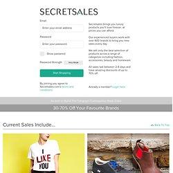 Secret Sales - The UK's No.1 Shopping Club